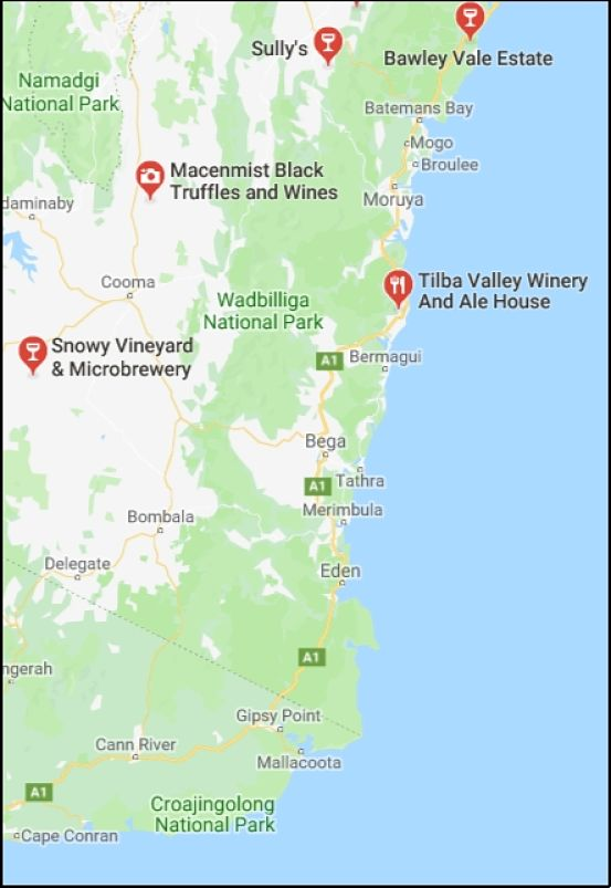 Far South Coast Wine Region - Wine, Wineries, Districts, Vineyards ...